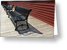 Bench Lines And Shadows 0841 Greeting Card