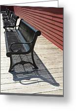 Bench Lines And Shadows 0862 Greeting Card