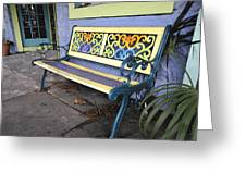 Bench Of Color Greeting Card