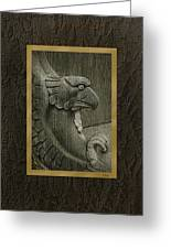 Benched Eagle Greeting Card