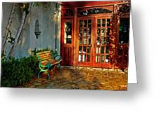 Benched In Fairhope Alabama Greeting Card