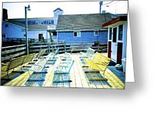 Benches On Boothbay Greeting Card