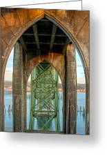 Beneath The Bridge Greeting Card