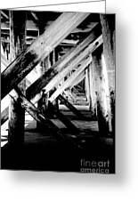 Beneath The Docks Night Greeting Card