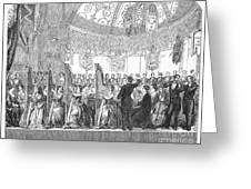 Benefit Concert, 1853 Greeting Card