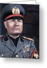Benito Mussolini Color Portrait Circa 1935 Greeting Card