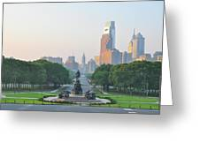 Benjamin Franklin Parkway - Philly Greeting Card
