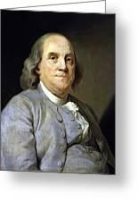 Benjamin Franklin Painting Greeting Card