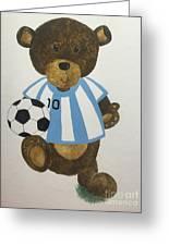 Benny Bear Soccer Greeting Card