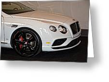 Bentley Continental Gt V8s Greeting Card