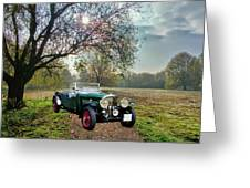 Bentley On A Country Road Greeting Card