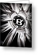 Bentley Wheel Emblem -0303ac Greeting Card