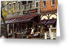 Bentleys Restaurant Woodstock Vermont Greeting Card