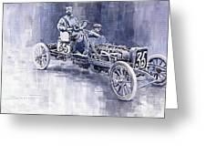 Benz 60hp Targa Florio Rennwagen 1907 Greeting Card