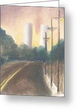 Bergen Turnpike Study Greeting Card