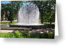 Berger Fountain2 Greeting Card