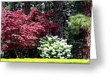 Beringer Winery Gardens Greeting Card
