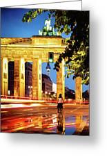 Berlin - Brandenburg Gate At Night Greeting Card