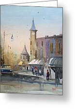 Berlin Clock Tower Greeting Card
