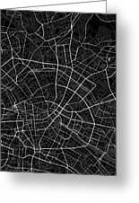 Berlin Germany Dark Map Greeting Card