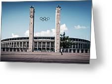Berlin - Olympic Stadium Greeting Card