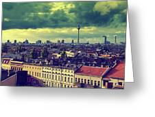Berlin Roofscape Greeting Card