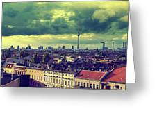 Berlin Skyline And Roofscape Greeting Card