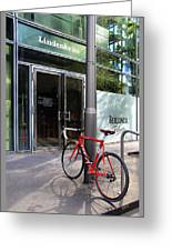 Berlin Street View With Red Bike Greeting Card