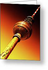 Berlin Television Tower - Berlin I Love You Greeting Card