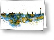 Berlin Watercolor Skyline Greeting Card