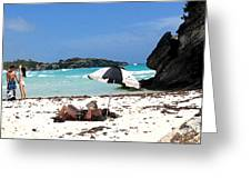 Bermuda On The Beach Greeting Card
