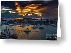 Bermuda Sunset Greeting Card