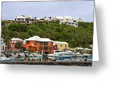 Bermuda Waterside Scene Greeting Card