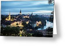 Berne At Night Greeting Card