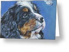 Bernese Mountain Dog Pup Greeting Card