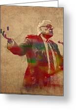 Bernie Sanders Watercolor Portrait Greeting Card