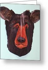 Berry Black Bear Greeting Card by Ellen Burns