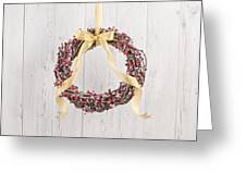Berry Decorated Wreath Greeting Card