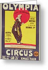 Bertram Mills Circus Poster Greeting Card