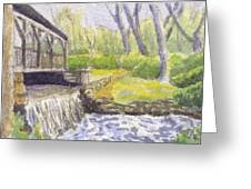 Beside The Dam Greeting Card