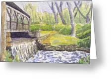 Beside The Dam Greeting Card