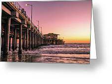 Beside The Pier By Mike-hope Greeting Card