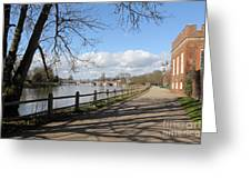 Beside The Thames At Hampton Court London Uk Greeting Card
