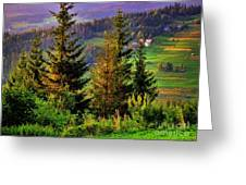 Beskidy Mountains Greeting Card