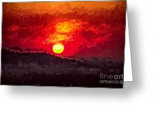 Beskidy Sunset Greeting Card