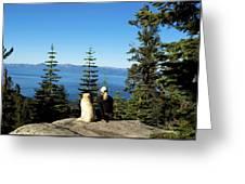 Best Buddies At Lake Tahoe Greeting Card