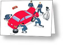 Best Car Service Center In Gurgaon Greeting Card