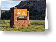 Best Friends Animal Sanctuary Angel Canyon Knob Utah Signage 01 Greeting Card