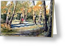 Walking With A Friend Greeting Card
