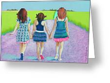 Best Friends Greeting Card by Tracy L Teeter